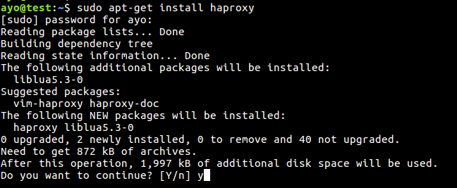 haproxy on ubuntu